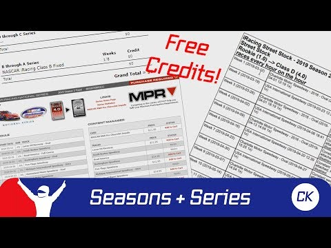Iracing - season schedules & series explained