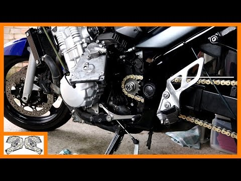 How to replace the chain and sprockets (on a suzuki gsx650f)