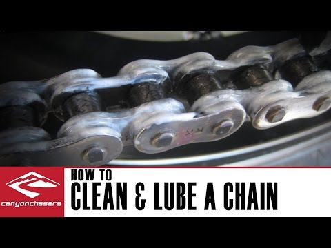 How to clean and lube a motorcycle chain 🏍⛓