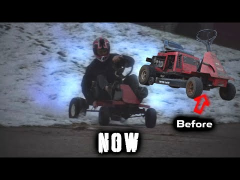 Building a go kart out of an old lawn mower