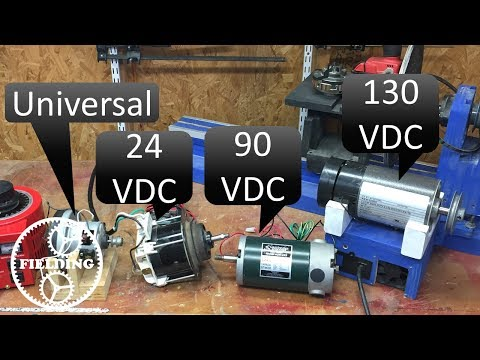 How to wire a large dc motor and control the speed; treadmill motors and universal motors 019