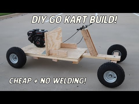 Homemade wooden go kart build   no welding or expensive power tools!