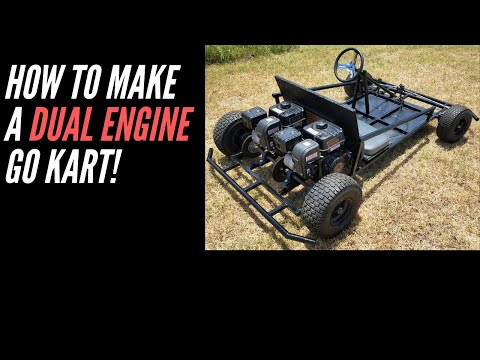 How to make a dual engine go kart from scratch!