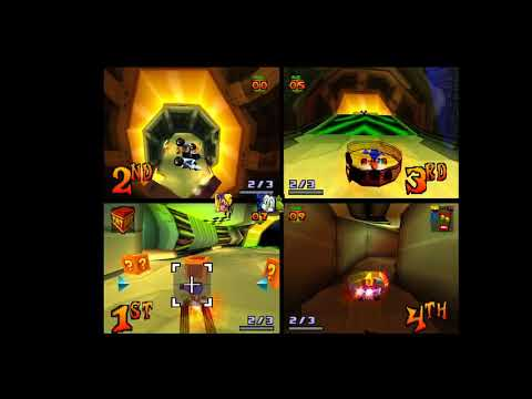 Crash team racing - 4 player oxide station for the first time ever