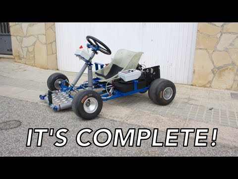 The car alternator go kart is finally complete!!! new project reveal! (donuts included)