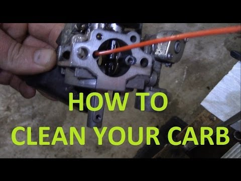 How to clean a carburetor on a small engine, mower, atv, go kart, scooter