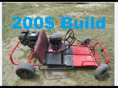 How to build a 200$ go kart!! frame engine clutch runs and works great