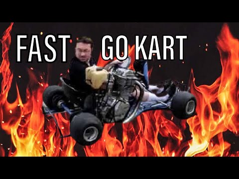 Go kart with motocycle engine ! super fast !