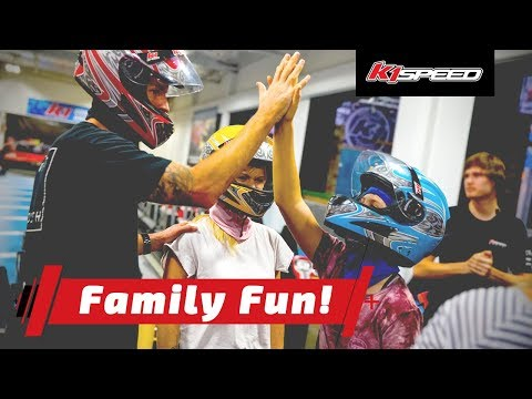 Indoor go kart racing is a fun family activity for kids and adults!