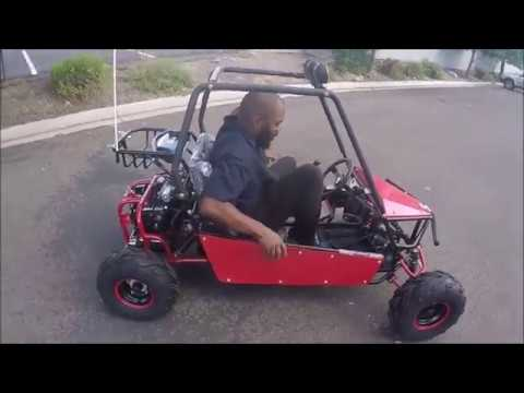 Kandi 125cc gkm go kart review in red