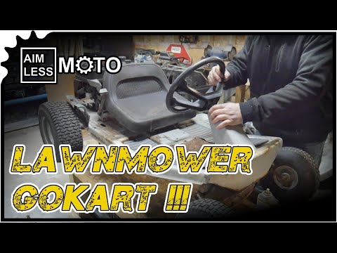 I built a lawnmower go kart and it's terrible