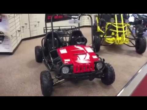 New jeep 125cc gas powered double seat youth go karts $1320 with free shipping - q9 powersports usa