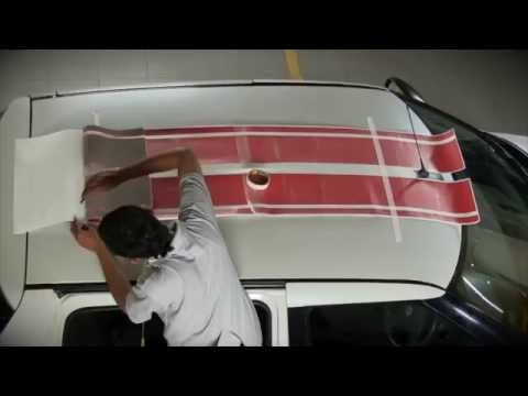 How to apply racing stripes on cars - 3m 1080 wrap series film
